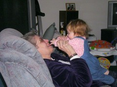 Playing with Grandma Ruth